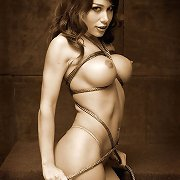 Mora was a glamour model that wanted to try some rope slavery