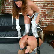 Blonde brutally spanked