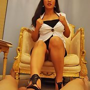 Sexy oriental Therapist Jessica Bangkok Cures Masturbation Addition with Brutal Femdom Techniques