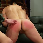 Whipped, humilliated and strapon fucked slave