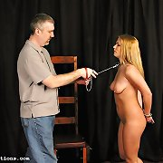 Sexy Samantha meets her taskmaster in a series of debasing events