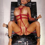 JENNA JAMESON, in suspension, infatuation shoes, strict restraint bondage and being flogged