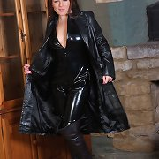The very pretty Candi gets turned on wearing this leather catsuit