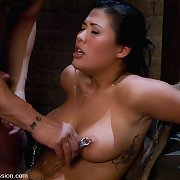 Asian girl London Keyes suffers hard bondage, domination, rough sex.