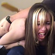The master spanked a blonde chick otk