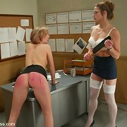 Teacher in nylons punished schoolgirl