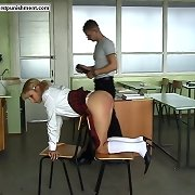 Sweet schoolgirls acquires spanked hard