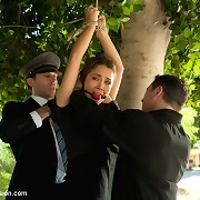 Submissive wife and maid get forced screwed in bondage