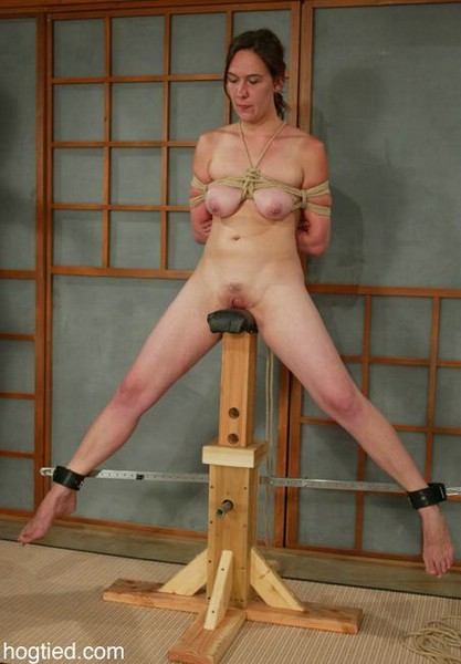 Lesbian topless hands tied with