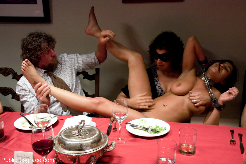 dinner Naked party nude