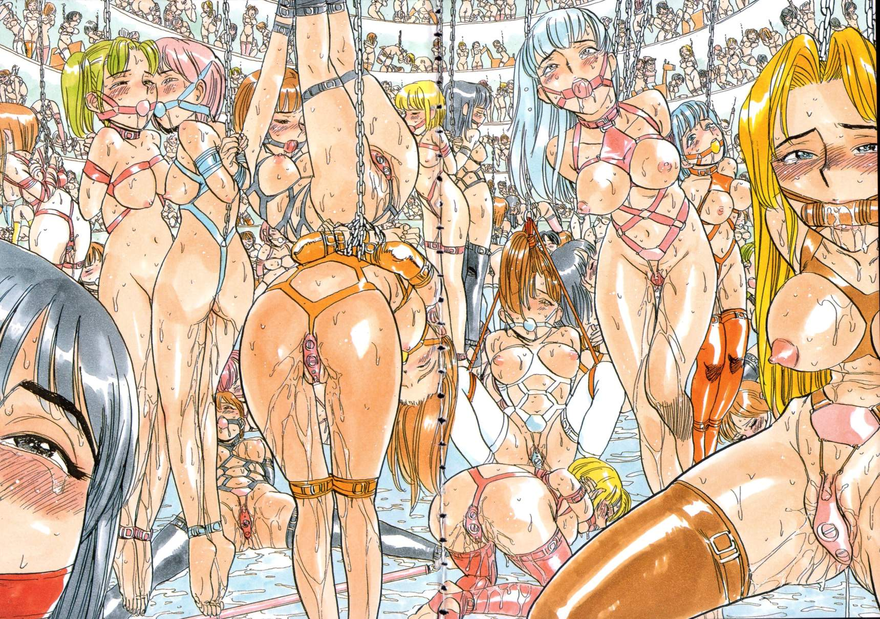 bondage fantasies pushed to the limit, illustrated hentai-style
