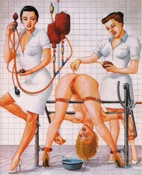 Extreme brutal bondage