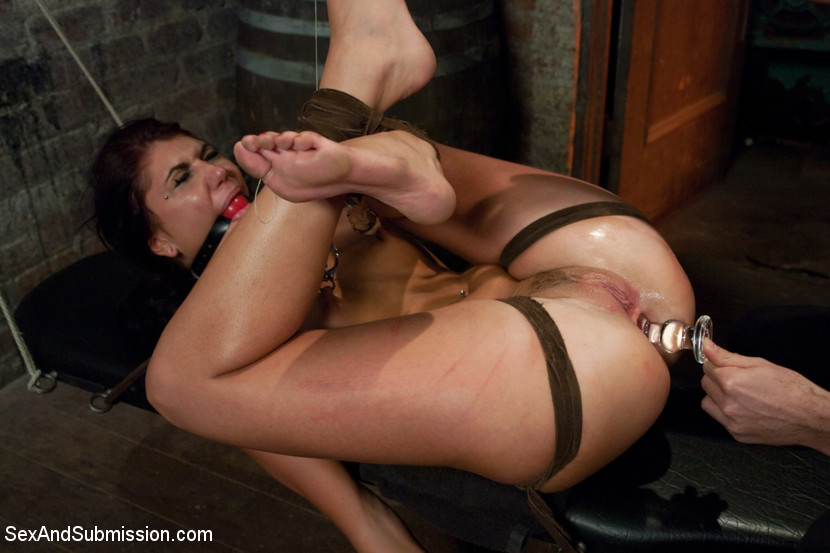 image Tied up submissive wife gets rough anal and tremble after