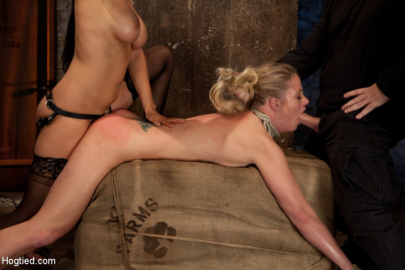 Sex girls anal hogtied slave