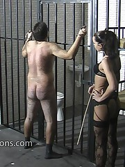 Caged man was punished