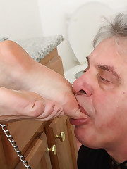 Ass and toes licking