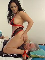 The chubby ebony mistress smothered a malesub