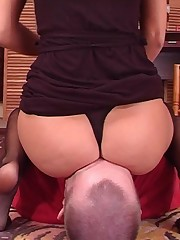 Bad boy was smothered by ass