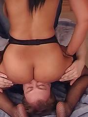 Big tit ebony sat on malesub