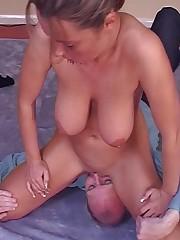 Blonde babe sat on slave's face