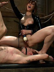 Slave was beaten and licked ass hole of mistress.