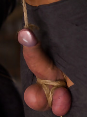 Poor salve's dick badly tortured and his ass-hole fucked
