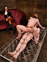 Mistres Adams dominated two sissy men