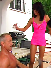 High heel and pee outdoor domination