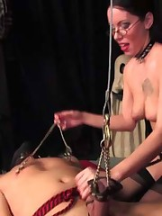 Mistress has a dildo...and she knows how to use it!