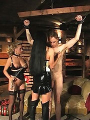 Mistress Carmen lashes out at her trembling slaves