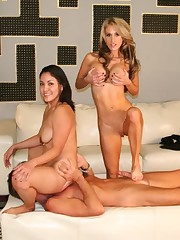 Two mistress in hard facesitting action
