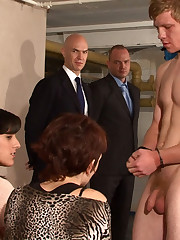 Align humiliation of submissive dude away from his get hitched coupled with friends