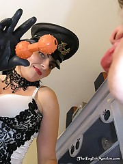 Strict mistress humiliate her slave