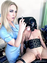 Hot sexy mistress tormented submissive partient