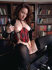 More of supermodel Angelique, now with a dildo and a beer bo...