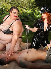 Extremely biggest big beautiful woman dommies in femdom action