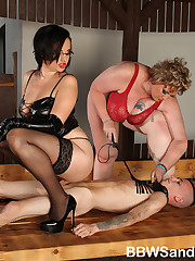 Heavy torture from the large beautiful women