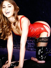 Riley Reid tortures her male's balls