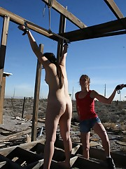 Slavegirl was suspended and whipped