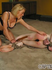 Mistress uses her male