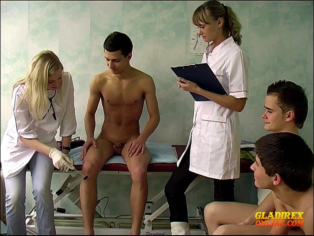 Army boy get physical exam doctor checking 9