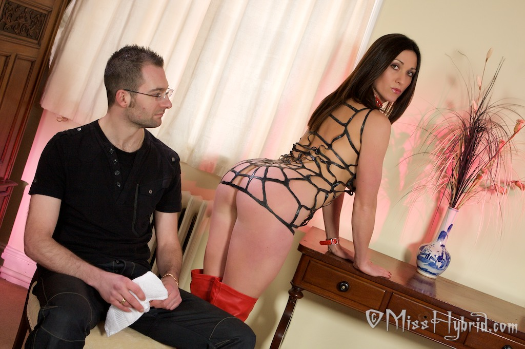 Dominated by spanked him