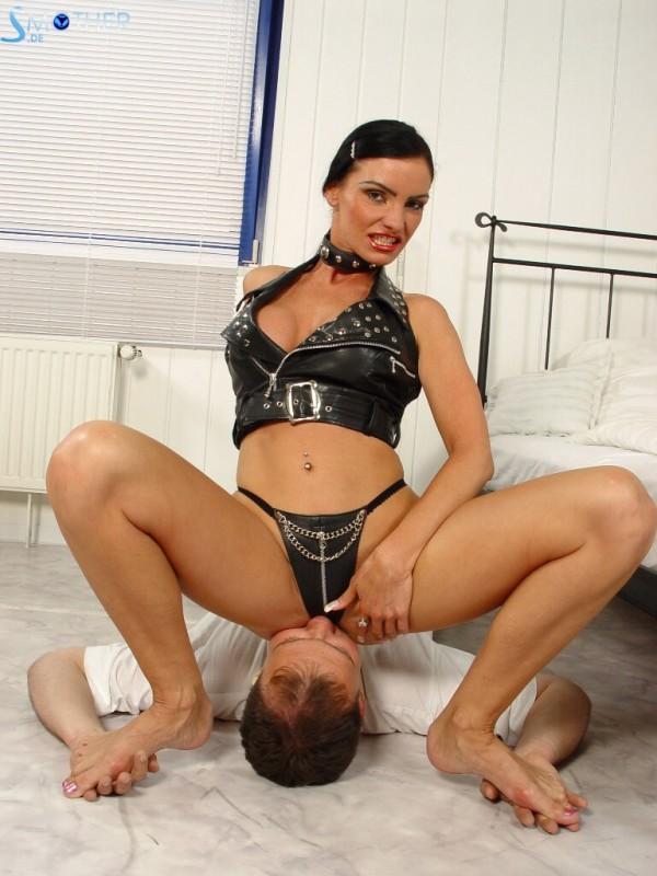 lick under mistress dress