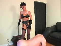 Mistress lets her captive fuck her, gives him additional satisfaction
