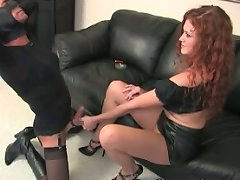 Mistress Sabrina's feet are for kissing...for kicking with...for worshipping