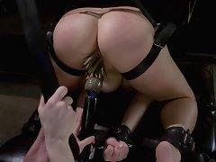 Hard lesbo spanking BDSM!