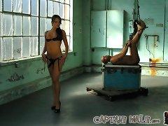 Mistress abused bad boy