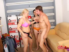 Newly promoted honeys use their new power to receive revenge on office pervert