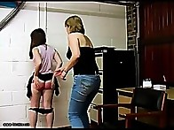 Chloe soon found herself bare bottomed & over the knee getting a hard spanking