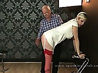 Bent over and caned hard for the very 1st time